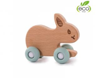 dřevěná hračka B-WOODY Rabbit Pastel Blue