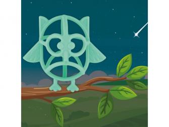 silikonové kousátko B-Owl Silicone Blue 3