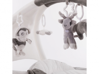 hrací deka s hrazdičkou B-Play Gym Apple Grey 5