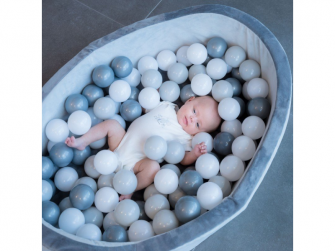 bazének s míčky B-Ball Pit Play Gym Grey 3