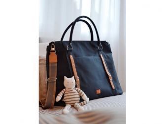 MIRANO modrá - kabelka i přebalovací taška 6