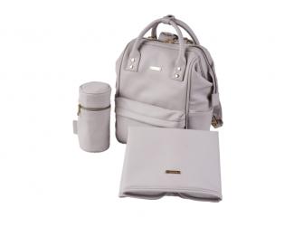 Přebalovací taška-batoh Mani, Grey Blush Leatherette 2
