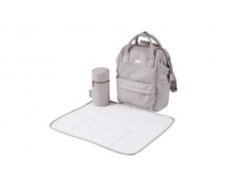 Přebalovací taška-batoh Mani, Grey Blush Leatherette 5