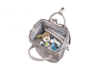 Přebalovací taška-batoh Mani, Grey Blush Leatherette 6