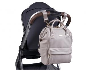 Přebalovací taška-batoh Mani, Grey Blush Leatherette 7