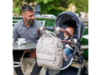 Přebalovací taška-batoh Mani, Grey Blush Leatherette 9