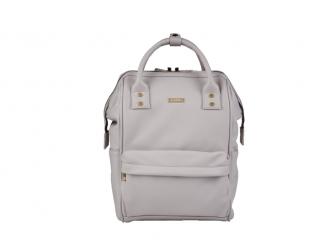 Přebalovací taška-batoh Mani, Grey Blush Leatherette