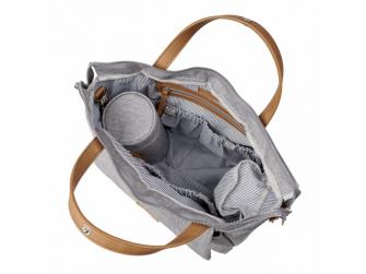 Přebalovací taška-batoh velká Erin, Grey Marl 10