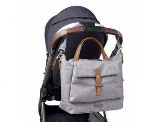 Přebalovací taška-batoh velká Erin, Grey Marl 11