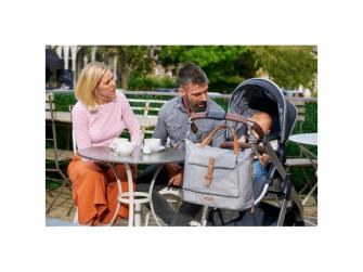 Přebalovací taška-batoh velká Erin, Grey Marl 16