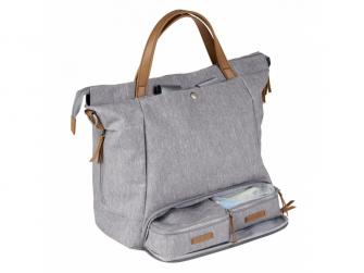 Přebalovací taška-batoh velká Erin, Grey Marl 2