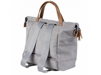 Přebalovací taška-batoh velká Erin, Grey Marl 3