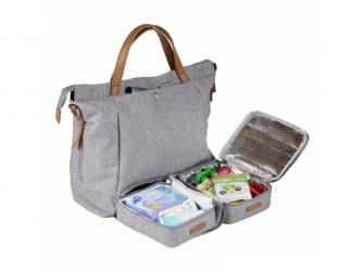 Přebalovací taška-batoh velká Erin, Grey Marl 6