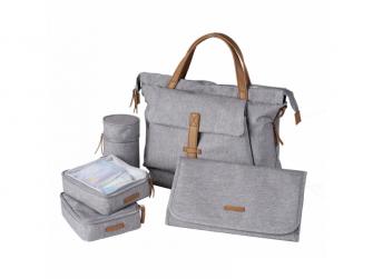 Přebalovací taška-batoh velká Erin, Grey Marl 7