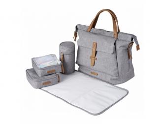 Přebalovací taška-batoh velká Erin, Grey Marl 8