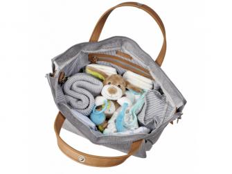 Přebalovací taška-batoh velká Erin, Grey Marl 9