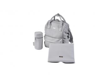 Přebalovací taška-batoh Mani, Dove grey leatherette 2