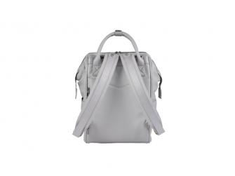 Přebalovací taška-batoh Mani, Dove grey leatherette 3