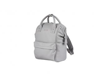 Přebalovací taška-batoh Mani, Dove grey leatherette 4