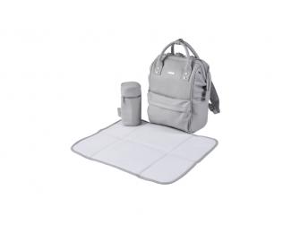 Přebalovací taška-batoh Mani, Dove grey leatherette 5