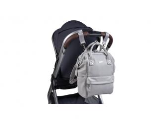 Přebalovací taška-batoh Mani, Dove grey leatherette 7