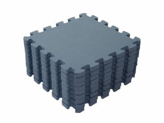 Hrací podložka puzzle Dusty Blue 90x90 cm