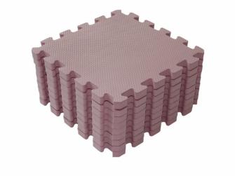 Hrací podložka puzzle Dusty Rose 90x90 cm
