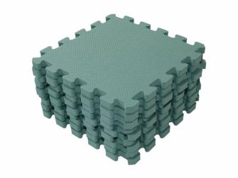 Hrací podložka puzzle Dusty Green 90x90 cm