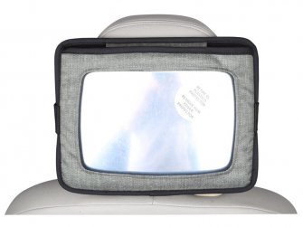 Držák tabletu a baby zrcadlo do auta, Lux Grey