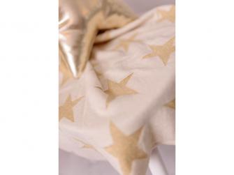 Pletená deka - zlaté hvězdy 2