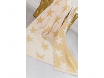 Pletená deka - zlaté hvězdy