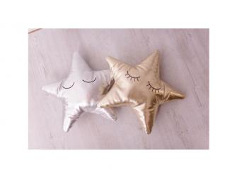 Měkký polštářek - zlatá hvězda 3