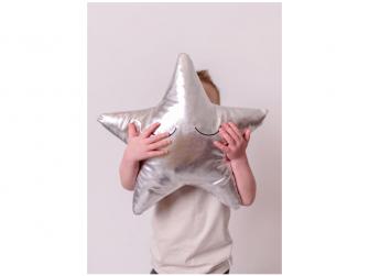 Měkký polštářek - stříbrná hvězda 2