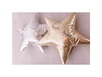 Měkký polštářek - stříbrná hvězda 3