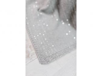 Pletená deka - stříbrná 3