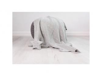 Pletená deka - stříbrná