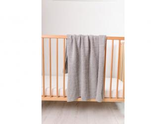 Pletená deka - stříbrná 5
