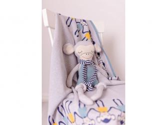 Pletená deka - opičky 3