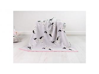 Pletená deka - jednorožci