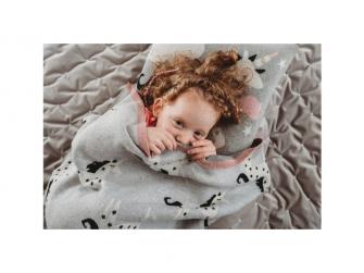 Pletená deka - jednorožci 2