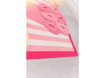 Pletená deka - plameňáci 3