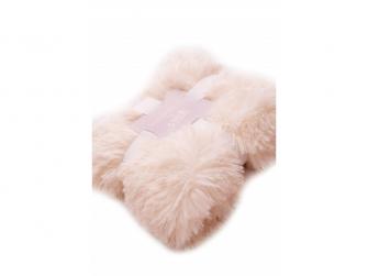 Luxusní deka - krémová 3
