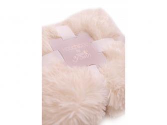 Luxusní deka - krémová 4