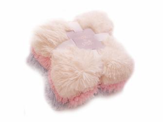 Luxusní deka - krémová 8