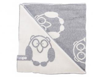 Dětská deka Little Owl, Grey