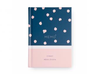 Memo 3 pudrově růžová