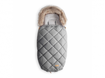 Fusak s kožešinou 100cm (5-24m) / M, light grey