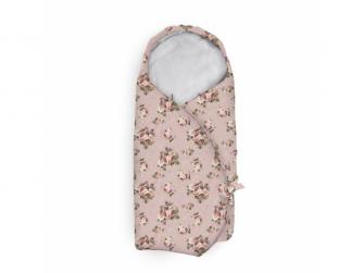 Zavinovací deka do autosedačky velur, Pink Roses
