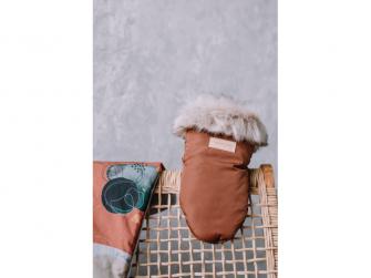 Rukavice s kožešinou na kočárek, cinnamon 2