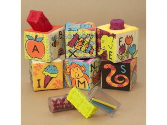 Textilní kostky ABC Block Party 3